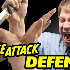 Defend Against a Knife Attack - Knife Self Defense - FightFastVideos