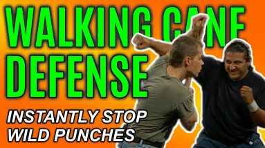 Haymaker Block with a Walking Cane | Self Defense Technique | FightFast